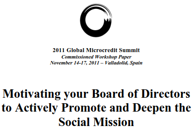 Motivating your Board of Directors  to Actively Promote and Deepen the  Social Mission