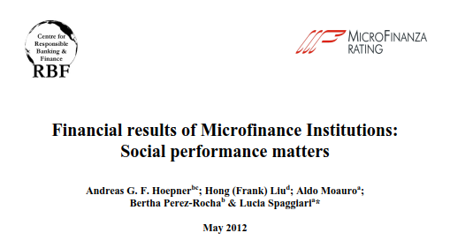 Financial results of Microfinance Institutions: Social performance matters